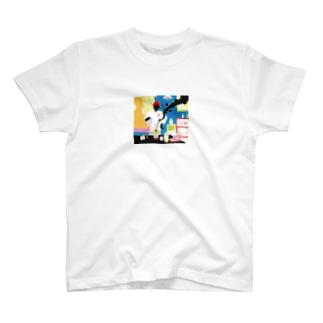 サードウェーブ系男子。 Tシャツ