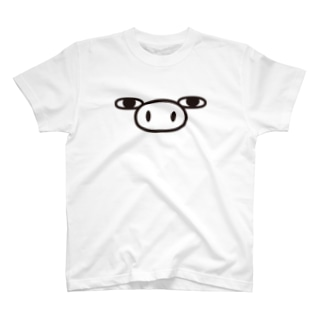 ぶた100%ザフェイス Tシャツ