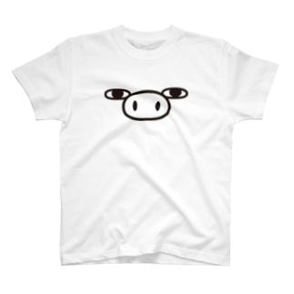 ぶた100%ザフェイス T-shirts