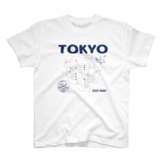 東京ZOO MAP T-shirts
