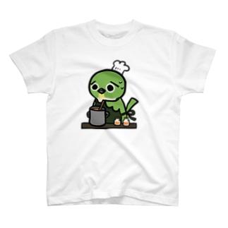 メジロちゃんの夏みかんジャムづくり T-shirts
