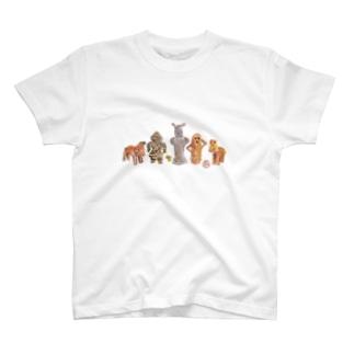 ハニワちゃんと土偶ちゃん T-shirts