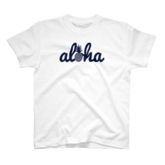 aloha(star)018 navy T-shirts