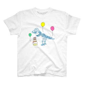 化石 to letter (4th birthday) T-shirts