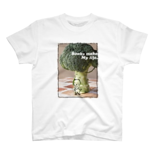 読書猫とブロッコリー T-shirts