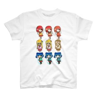 3人娘3×3(みくさんコラボ) T-shirts