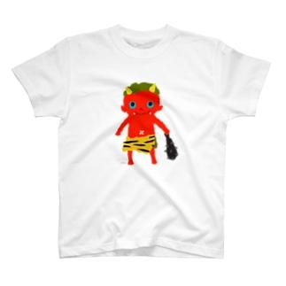 おばけTシャツ<でっかい赤鬼> T-shirts