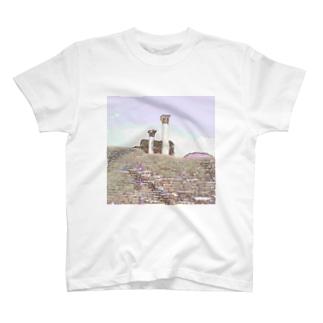 CG絵画:オスティアの神殿遺跡 CG art: Ostia T-shirts