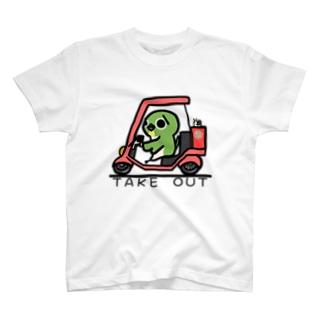 TAKE OUT マーク T-shirts