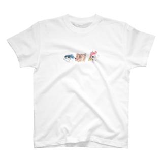 京都のくま愛知のニワトリ沖縄のマグロ T-shirts