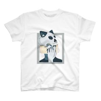 猫耳ガイコツ T-shirts