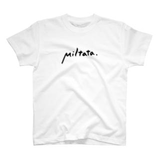 Miltataのロゴ T-shirts