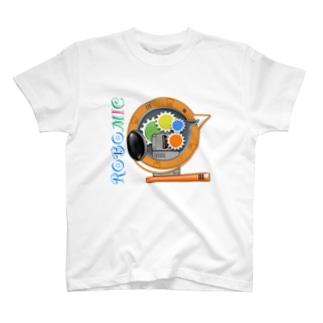 ROBOMIC type ORANGE T-shirts