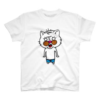 三つ毛のぬこさん T-shirts