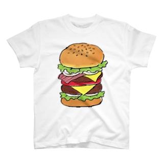 溝呂木一美のお店の食べたいハンバーガー T-shirts