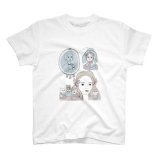 mupiiiiiのcat T-shirts