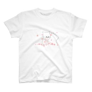 お花をあげる~ヨーキー~ T-shirts