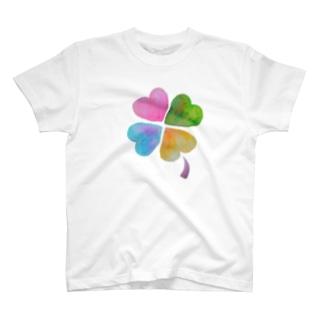 しあわせくろーばー T-shirts