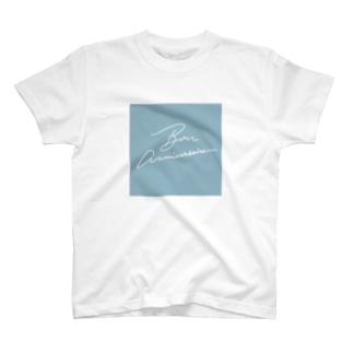 Bon anniversarite シカクブルー T-shirts