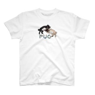 PUG-パグ-ぱぐ Tシャツ-2 T-shirts