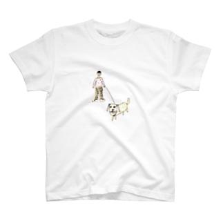 boy&dog (color ver.) T-shirts