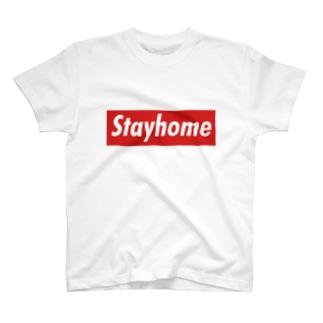 Stayhome BOXロゴシリーズ T-shirts