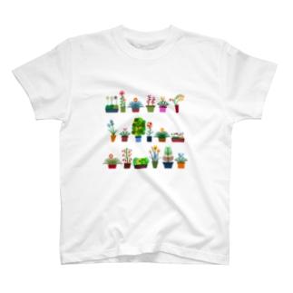 鉢植えたち集合 T-shirts