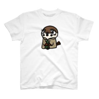 誰かと待ち合わせ?JK時代スズメちゃん T-shirts