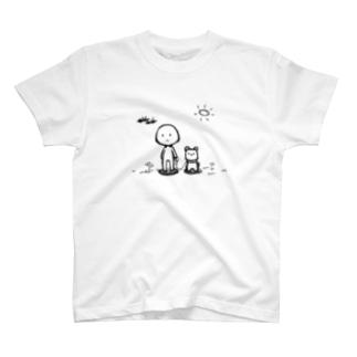 犬のお散歩 T-shirts