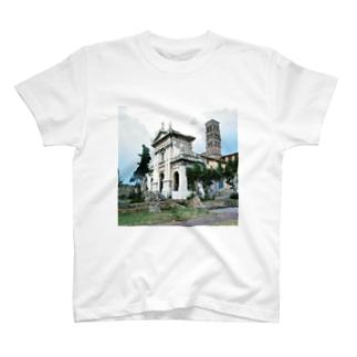 イタリア:サンタ・フランチェスカ・ロマーナ教会 Italy: Basilica di Santa Francesca Romana T-shirts