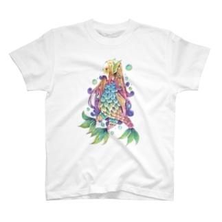 アマビエ様(フルカラー) T-shirts