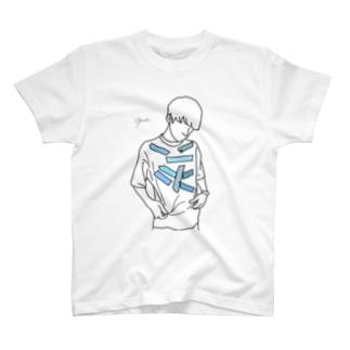 【レッテル blue】 T-shirts