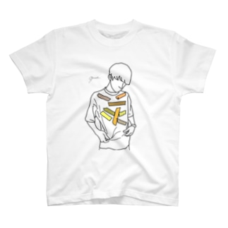【レッテル yellow】 T-shirts