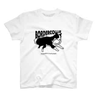 ボーダーコリー フリスビー T-shirts