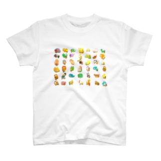 どうぶつたち T-shirts