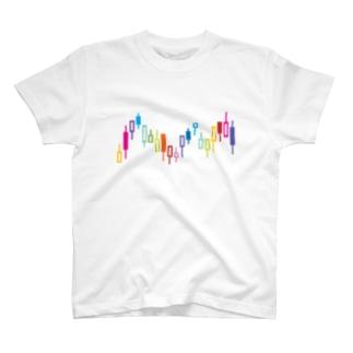 ローソク足 T-shirts