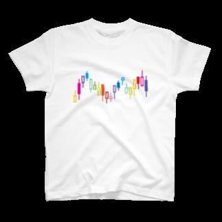 AURA_HYSTERICAのローソク足 T-shirts