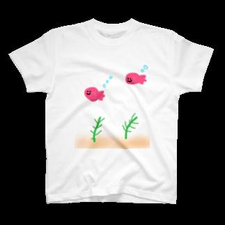 しなびたアフロのゆる金魚鉢 T-shirts
