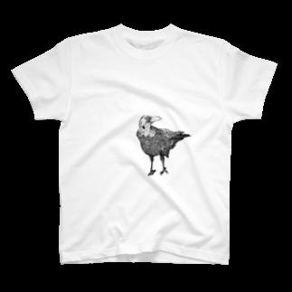 Kay Skedrawdle_art_shopのペン画カラス T-shirts