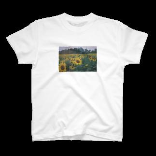 #ゆのひまわりロゴ T-shirts