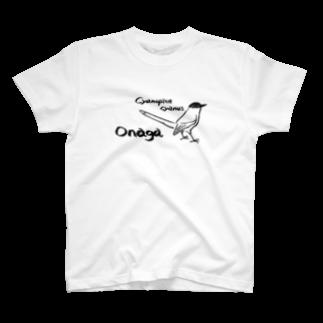 でこぱち商店のオナガ T-shirts