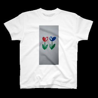 まるあるちの双子のハート花 T-shirts