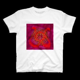wamiの縄文フトマニ(ヲシテ文字) T-shirts