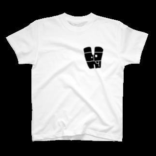 bocoxodesignShopのalphabetMONSTAR【H】 T-shirts
