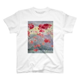 Sakurajima Poppy Explosion T-shirts