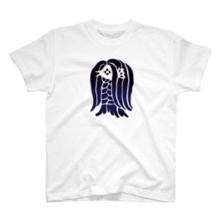 アマビエ様<藍> T-shirts