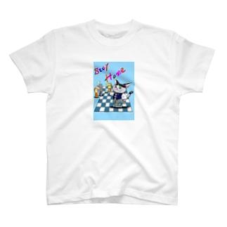 チェスを愉しむネコさん T-shirts