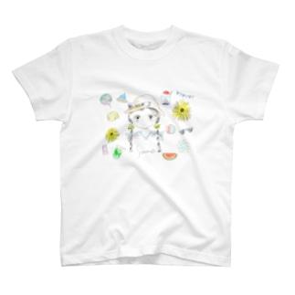 夏の女の子 T-shirts