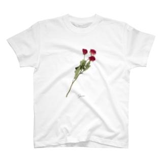 ローズ #01 T-shirts