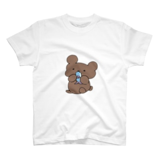 サカナ食ってるクマ T-shirts